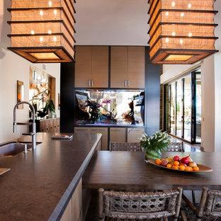 Tropical kitchen in San Diego.