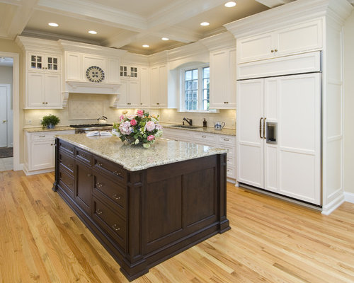 Dark Island White Cabinets Ideas, Pictures, Remodel and Decor