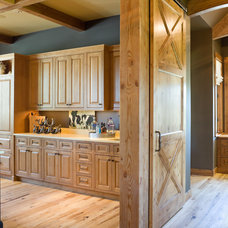 Rustic Kitchen by Alan Mascord Design Associates Inc