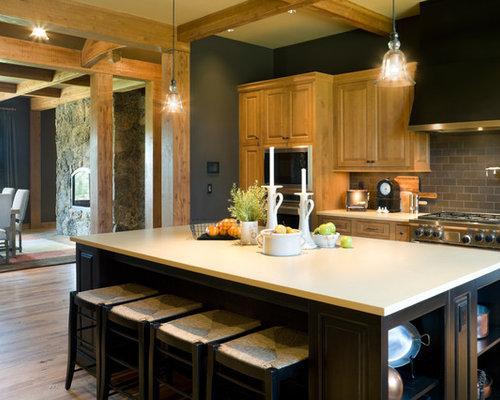 rustic kitchen paint colors houzz. Black Bedroom Furniture Sets. Home Design Ideas