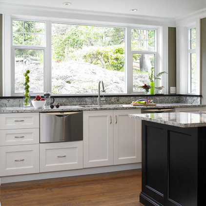 Transitional Kitchen by The Sky is the Limit Design