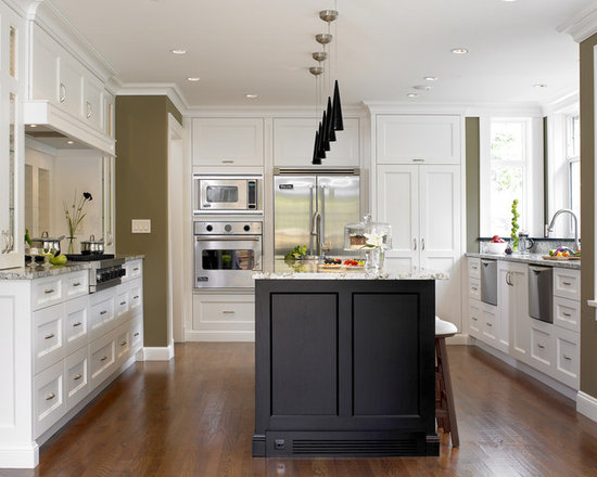 Kitchens With White Cabinets And Green Walls white cabinets green walls | houzz