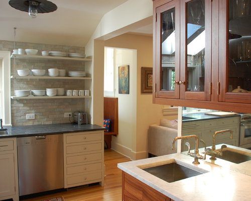 Open Kitchen Shelving Design Ideas & Remodel Pictures | Houzz