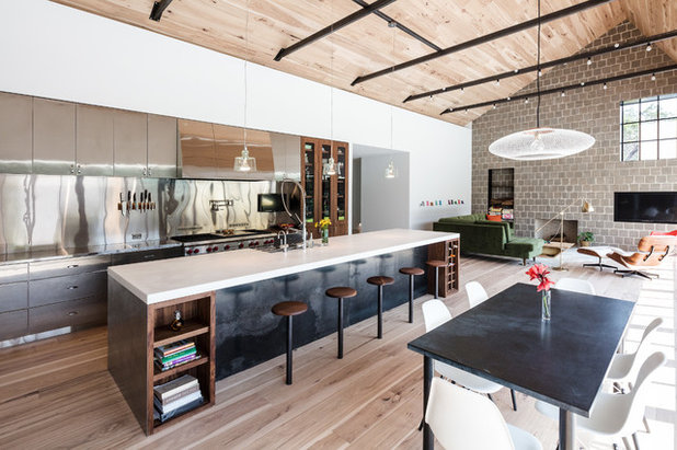 Kitchen And Great Room Celebrate Wood, Steel And Natural Light Part 22