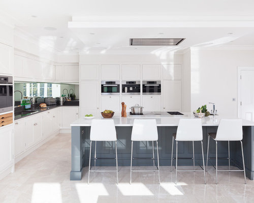 Eye level oven houzz for Eye level oven kitchen designs