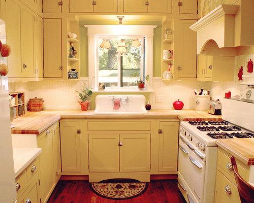 kleine k chen mit gelben schr nken ideen design bilder houzz. Black Bedroom Furniture Sets. Home Design Ideas