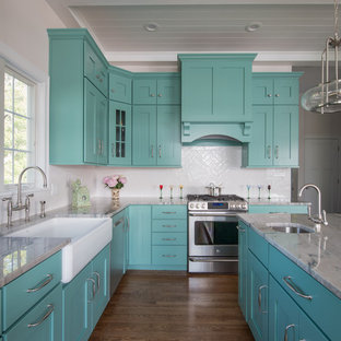 75 Beautiful Turquoise Kitchen Pictures & Ideas | Houzz on mint kitchen ideas, emerald green kitchen ideas, rust kitchen ideas, green yellow kitchen ideas, pewter kitchen ideas, plaid kitchen ideas, tangerine kitchen ideas, classic white kitchen ideas, quartz kitchen ideas, terra cotta kitchen ideas, lime green kitchen ideas, blue gingham kitchen ideas, vintage kitchen ideas, light green kitchen ideas, mahogany kitchen ideas, red kitchen ideas, kitchen decorating ideas, brown kitchen ideas, deep orange kitchen ideas, cobalt blue kitchen ideas,
