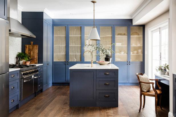 Transitional Kitchen by Lisa Burdus Interior Design