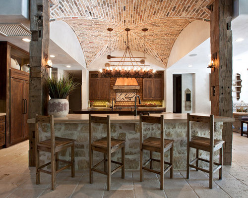 brick barrel vault ceiling kitchen design ideas