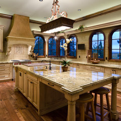 mediterranean kitchen by Homeland Design, llc