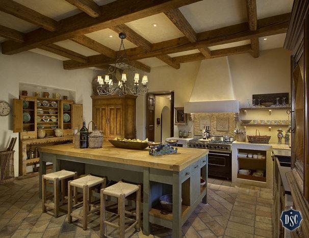 Mediterranean Kitchen by Desert Star Construction