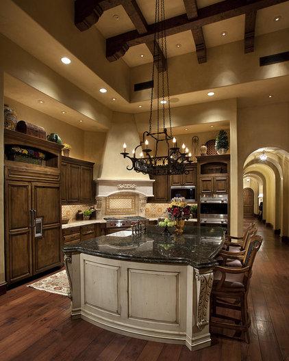 Mediterranean Kitchen by R.J. Gurley Construction