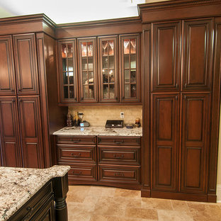 75 Beautiful Kitchen With Granite Countertops And Cement ...
