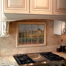 Mediterranean Kitchen by Pacifica Tile Art Studio
