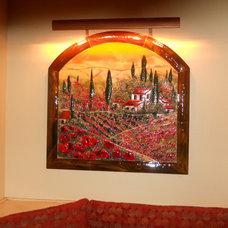 Mediterranean Kitchen by Designer Glass Mosaics