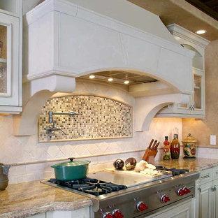 Tuscan Kitchen White Cabinets Houzz