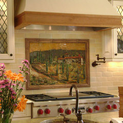 mediterranean kitchen by Designer Glass Mosaics