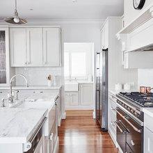 Australian Kitchen Gets a Luxe Hamptons Look