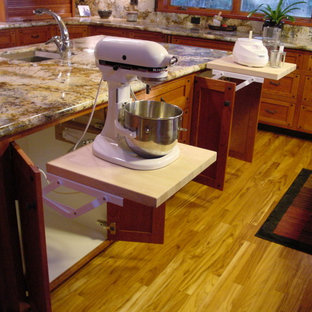Twain Harte kitchen in warm cherry with ebonized walnut accents and inlays
