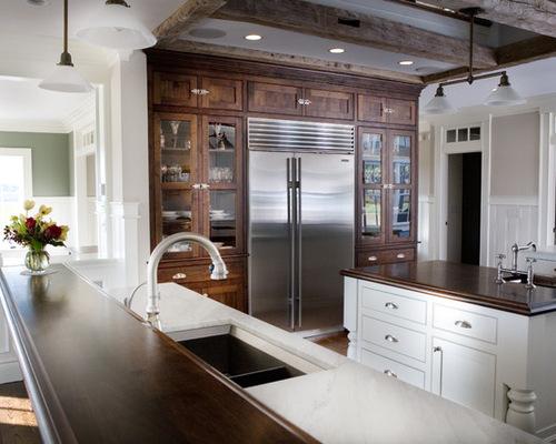 cabinets around refrigerator houzz large pantry area around refrigerator transitional