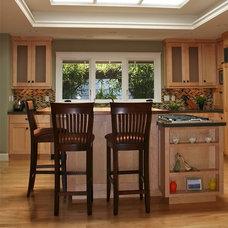 Contemporary Kitchen Two Chef Island