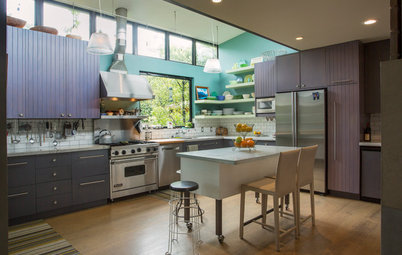 My Houzz: 2 Old Cottages Become 1 Cool, Colorful Home