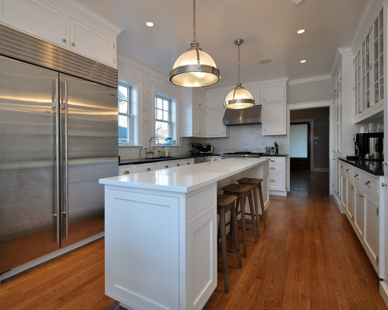 Long narrow kitchen island houzz for Long narrow kitchen ideas