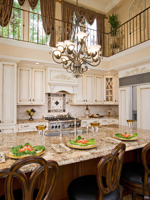 Elegant kitchen photo in Philadelphia with granite countertops. Online Furniture Stores Free Shipping   Houzz