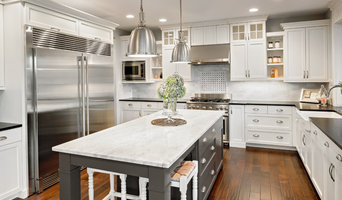 Two tone classic white and gray kitchen in Beverly Hills