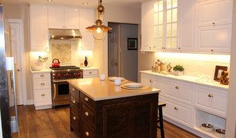 Two tone kitchen with custom island