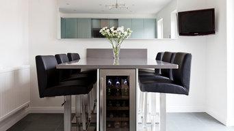 Two tone, modern kitchen, Cheltenham