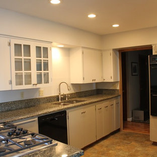 Two-Tone White & Grey Kitchen Cabinets