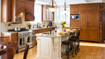 Two Toned Tuscan Inspired Kitchen