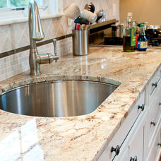 Traditional Kitchen Typhoon Bordeaux Granite Countertops