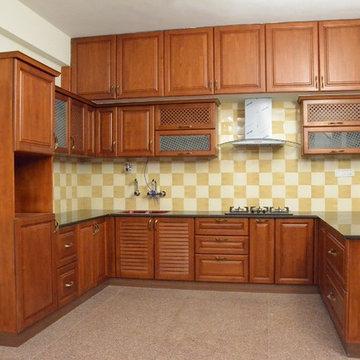U- Shaped  Kitchen Designs For Indian Homes