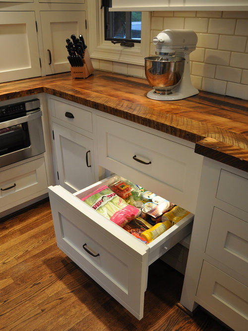 Inspiration For A Mid Sized Timeless Galley Medium Tone Wood Floor Enclosed  Kitchen Remodel In