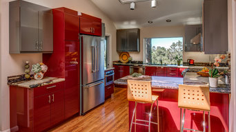 Ultra Contemporary, Red, High Gloss Kitchen, Designed By: Cynthia Collins