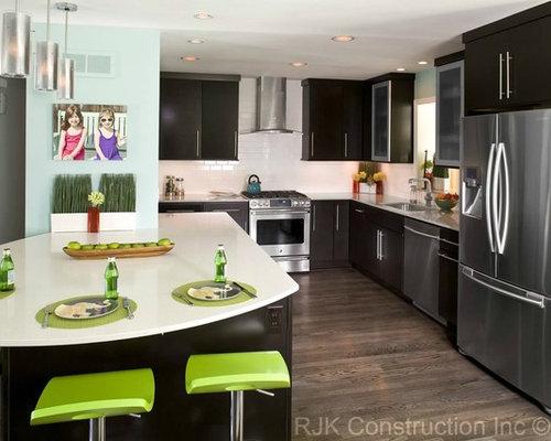 Minimalist Light Wood Floor Kitchen Photo In DC Metro With Stainless Steel  Appliances