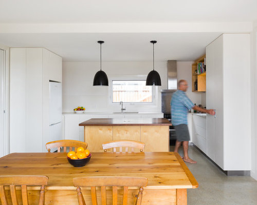 Photo Of A Mid Sized Scandinavian U Shaped Kitchen In Canberra   Queanbeyan  With
