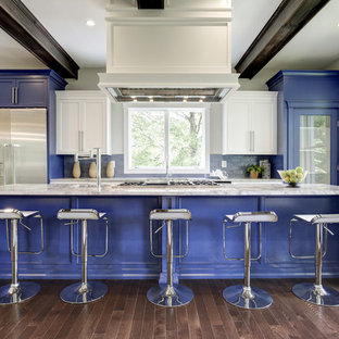 Mid Sized Contemporary Open Concept Kitchen Ideas Example Of A Trendy