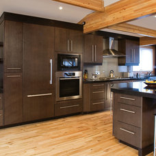 Contemporary Kitchen by Huntwood Custom Cabinets