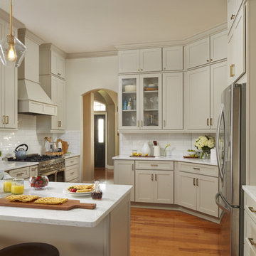 Unique and Inviting Transitional Gray Kitchen