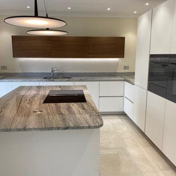 Unique Granite on kitchen island