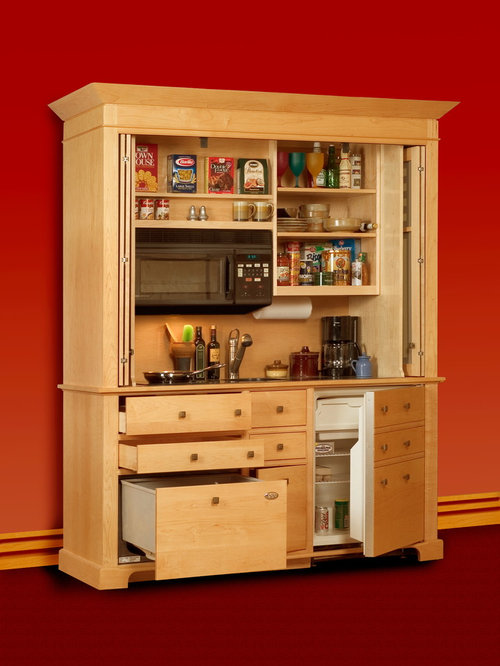 Kitchen armoire houzz for Kitchen wardrobe cabinet