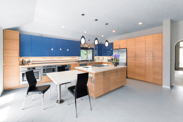 Contemporary Kitchen by Designs Anew Houston LLC