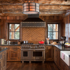Rustic Kitchen by Pearson Design Group