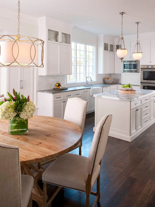 Eat In Kitchen Traditional Idea Dallas With A Farmhouse