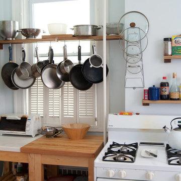 Upcycled-Everything Apartment Kitchen Renovation