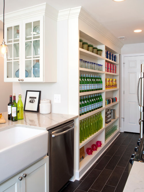 Shallow Pantry Home Design Ideas, Pictures, Remodel And Decor
