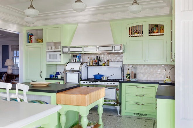 Beach Style Kitchen by Benson Interiors, Inc.